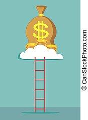 cloud., 梯子, 錢