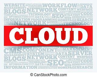 cloud., 詞, 雲