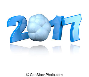 Cloud 2017 design with a White Background