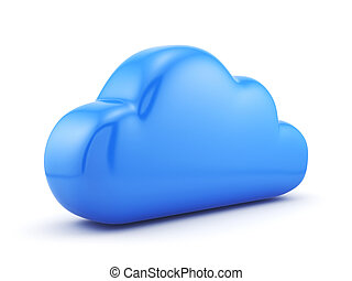Cloud - 3d render of cloud storage concept. Isolated on...