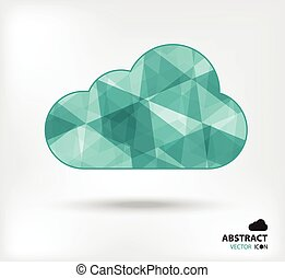 Cloud abstract vector icon geometric polygon