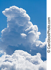 Cloud and blue sky for background