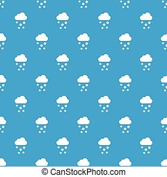 Cloud and hail pattern seamless blue