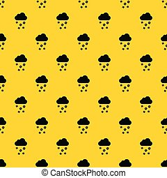 Cloud and hail pattern vector