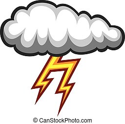 cloud and lightning bolt icon