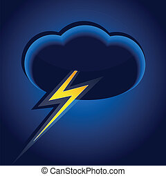 Cloud and lightning