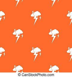 Cloud and lightning pattern seamless