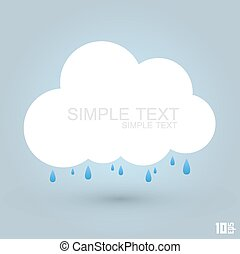 cloud and rain art creative. Vector illustration