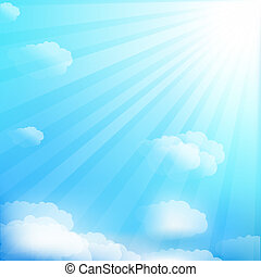 Sky - Cloud And Sky, Vector Illustration