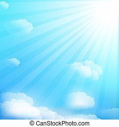 Sky - Cloud And Sky, Vector Illustration