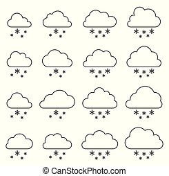 Cloud and snow on white background
