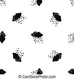 Cloud and snow pattern seamless black