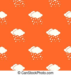 Cloud and snow pattern seamless
