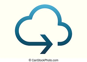 cloud arrow logo vector