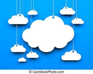 Cloud background. 3d image