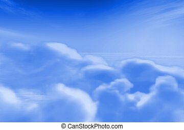Rendered clouds for backgrounds