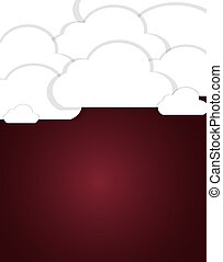 Cloud  background vector illustration