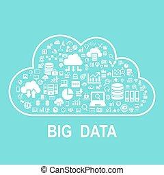 Cloud big data concept