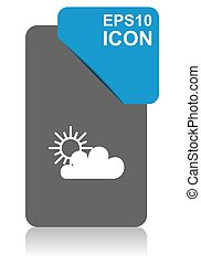 Cloud black and blue vector pointer icon on white background in eps 10