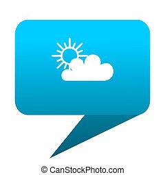 cloud blue bubble icon
