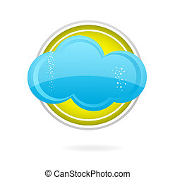 cloud blue color on the yellow circle