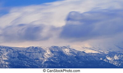 Cloud Blue Cropped - High definition time lapse of a...