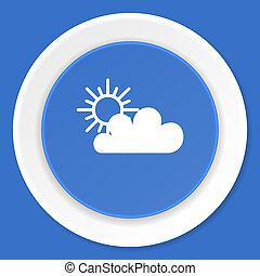 cloud blue flat design modern web icon