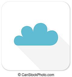cloud blue flat icon