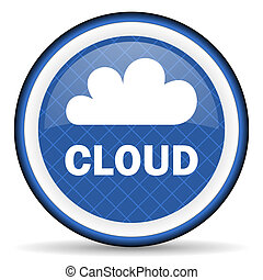 cloud blue icon