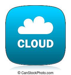 cloud blue icon