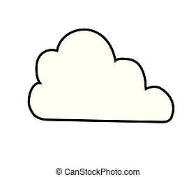 cloud blue icon vector illustration