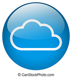 Cloud blue round Button