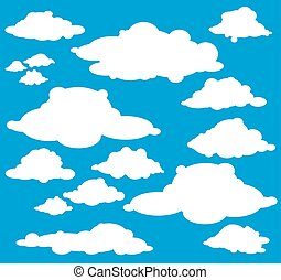 Cloud Blue Sky Vector