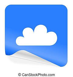 cloud blue sticker icon