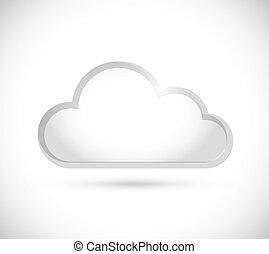 cloud border illustration design