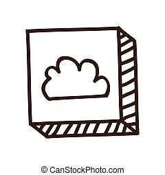 cloud button icon