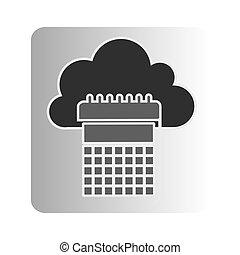 cloud calendar network icon