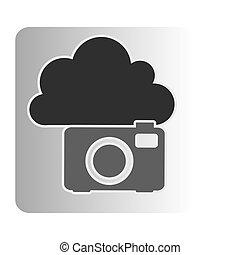 cloud camera network icon