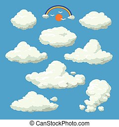 Cloud cartoon style vector illustration background