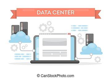 cloud., centre calculs
