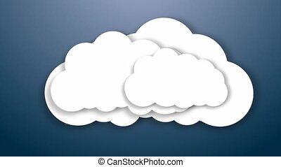Cloud. Cloud storage. Internet storage concept. - Cloud....