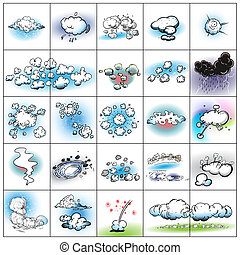 cloud collection on white background