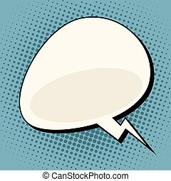 cloud comic bubble retro background for text