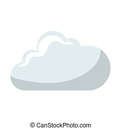 cloud comic isolated icon