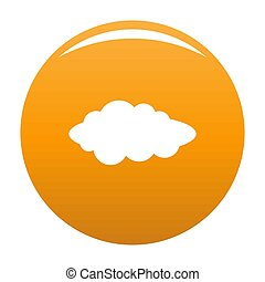 Cloud composition icon orange