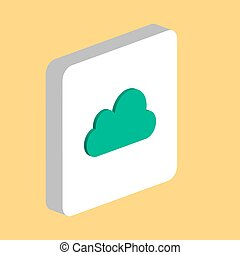 Cloud computer symbol for your business project