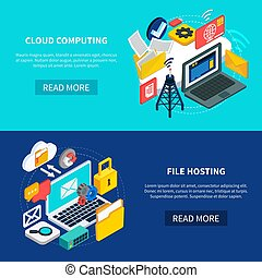 Cloud Computing And File Hosting Banners