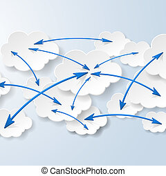 Cloud computing and social networks concept. Vector eps10 illustration
