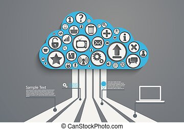 Cloud Computing bl - Cloud Computing concept background with...