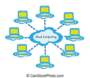 Cloud computing business vector